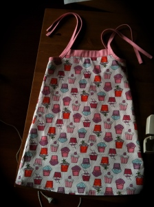 Cupcake dress for a girl