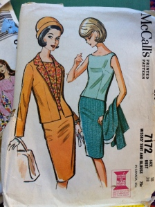 1963 sewing pattern suit