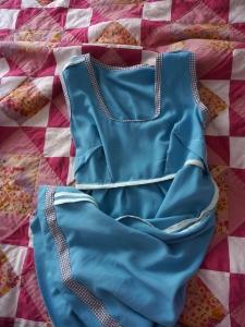 Seam finishes on the blue washi dress