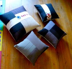 Cushions kimono silk