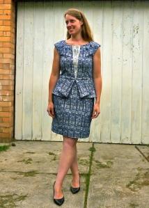 Gridlock tessuti dress