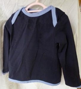 Jalie 3133 raglan baby FOE fold over elastic blue