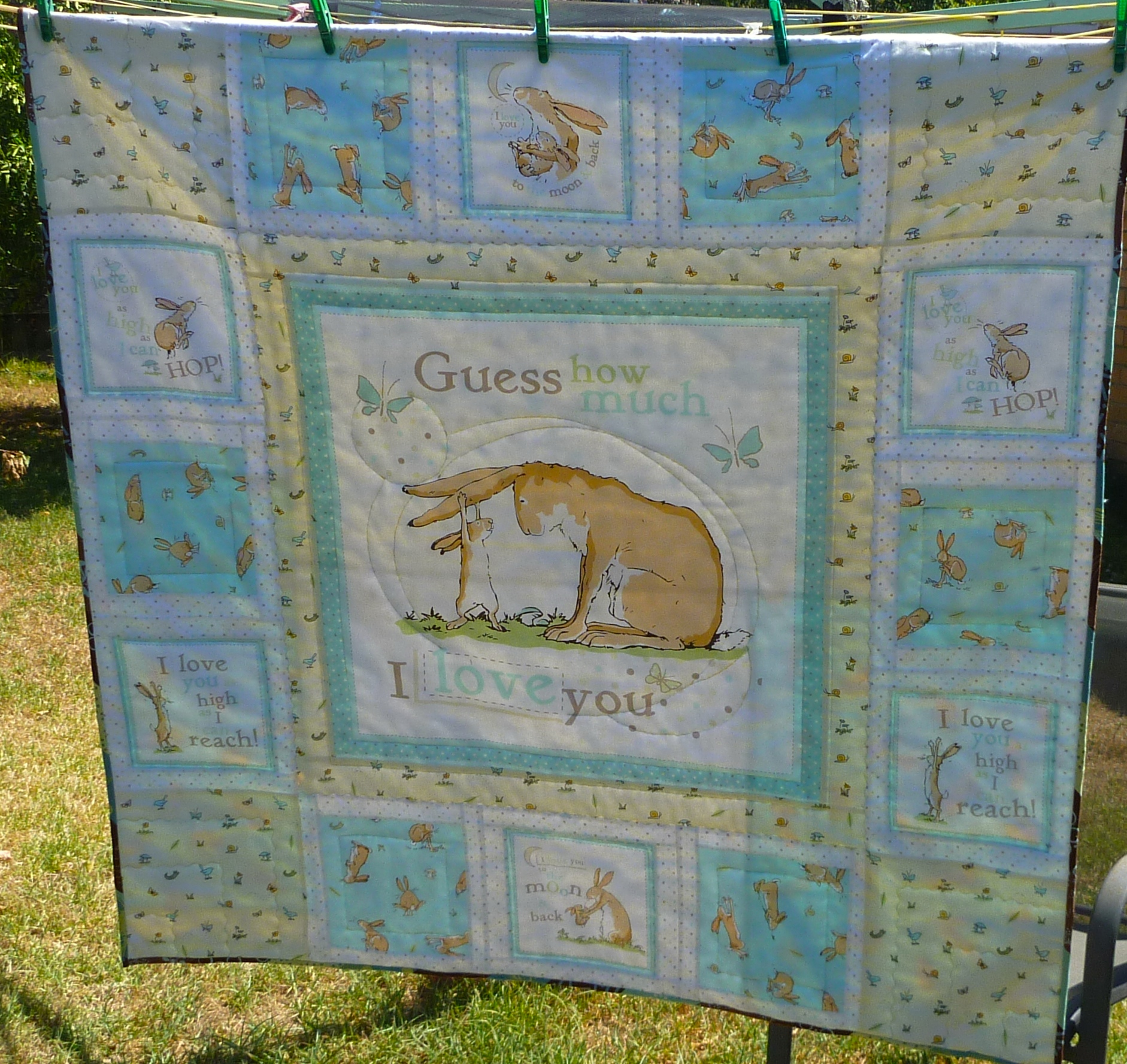 Baby Quilt Patterns Using A Panel : Guess how much I love you quilt number two SewSquirrel