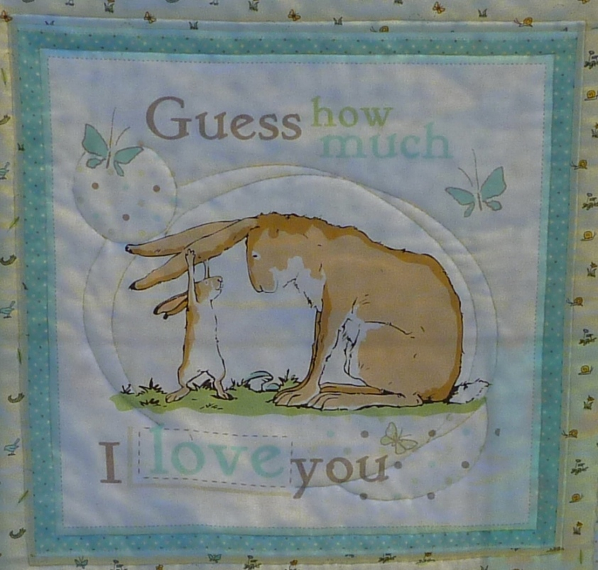 Guess how much I love you fabric panel
